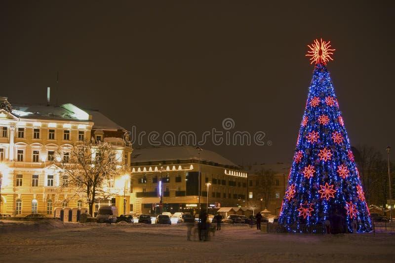 Noël à Vilnius photo libre de droits