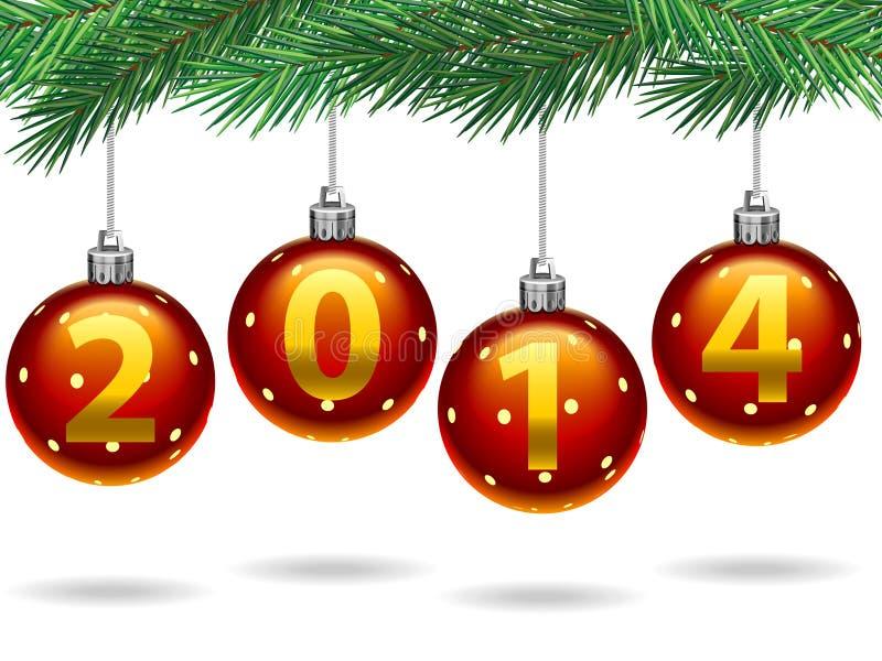 Noël 2014 illustration libre de droits