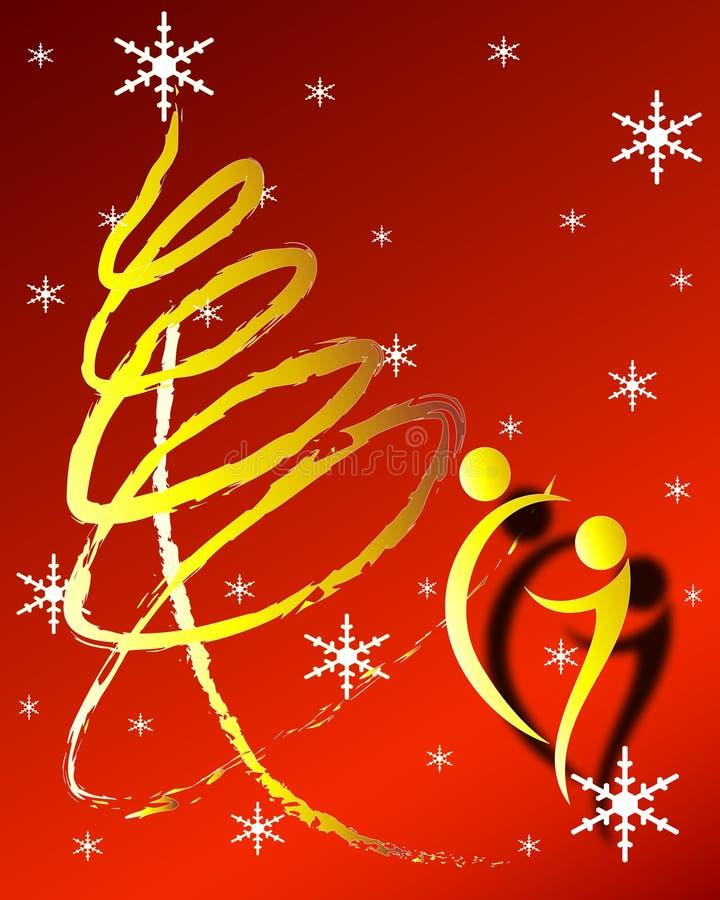 Noël abstrait illustration de vecteur