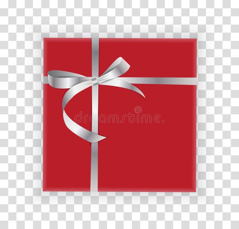 Noël abstrait et boîte-cadeau de nouvelle année sur le fond transparent Illustration de vecteur illustration libre de droits