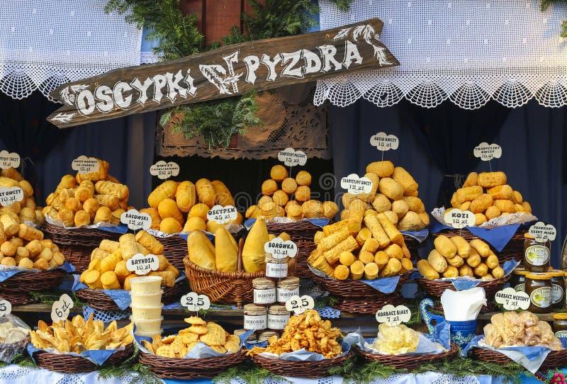 Noël annuel juste à la place principale du marché Cracovie, Pologne images libres de droits