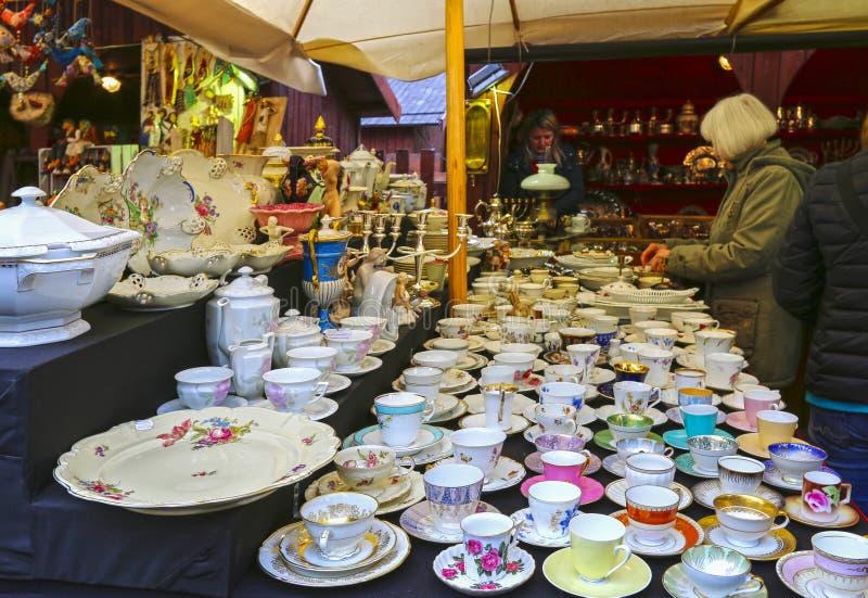 Noël annuel juste à la place principale du marché, Cracovie, Pologne photos stock