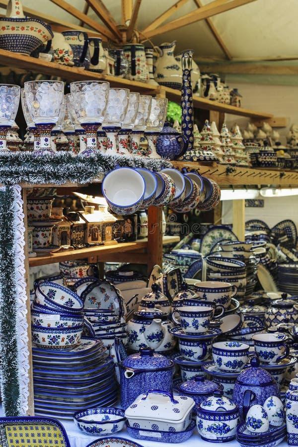 Noël annuel juste à la place principale du marché, Cracovie, Pologne image libre de droits