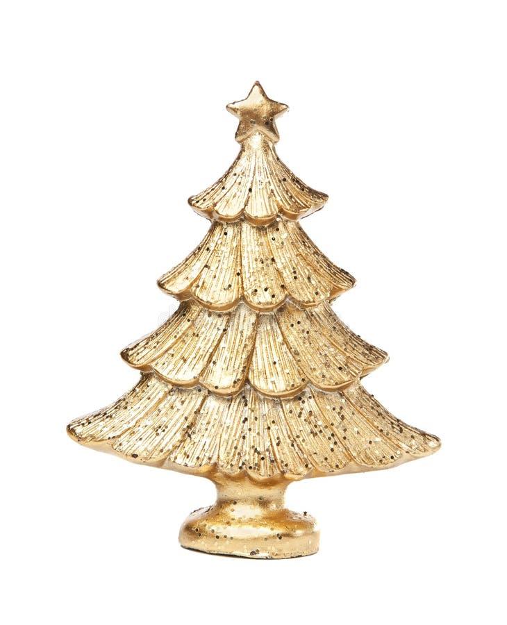 Noël-arbre d'or photographie stock