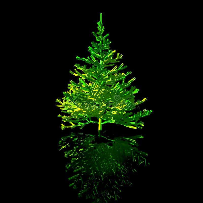 Noël-arbre. dessin 3D illustration libre de droits
