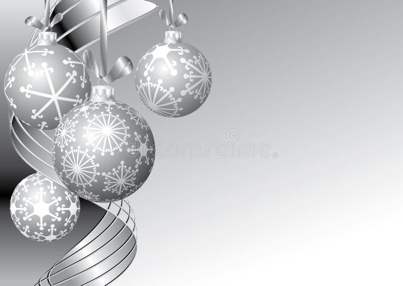 Noël argenté illustration libre de droits