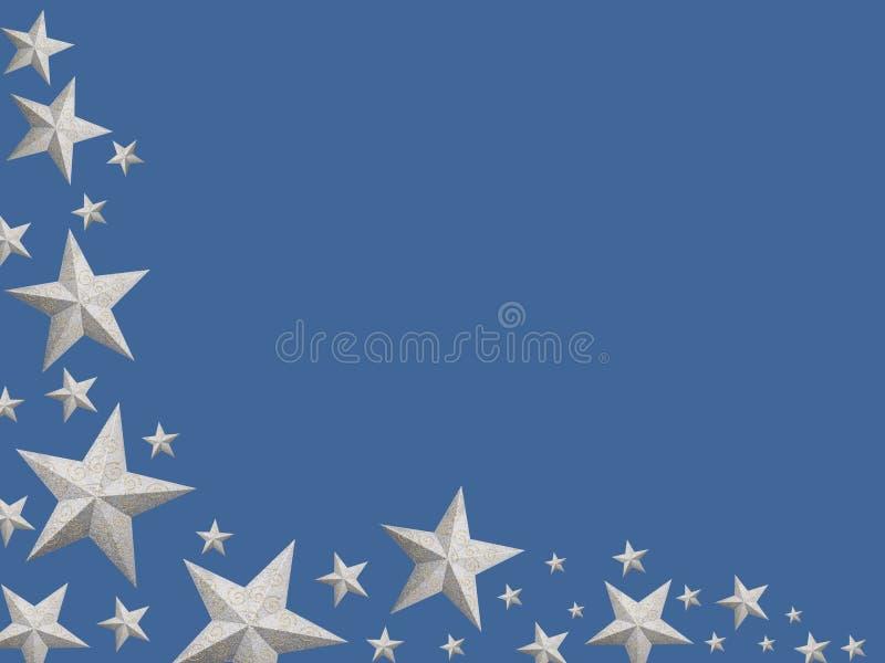 Noël argenté stars (d'isolement) illustration stock