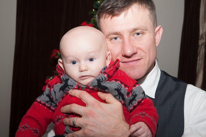 Noël avec le papa photographie stock libre de droits