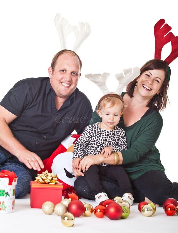 Noël avec ma famille image libre de droits