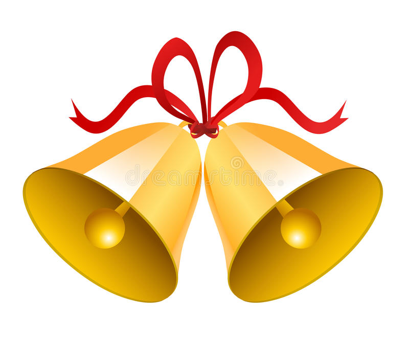 Noël Bells de mariage illustration libre de droits