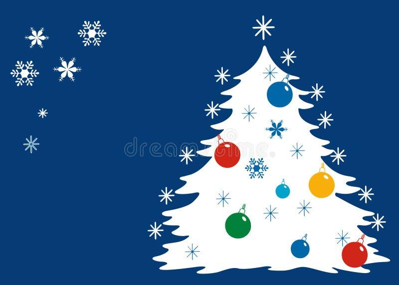 Noël bleu. illustration libre de droits