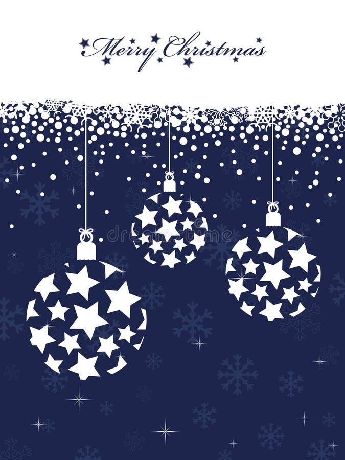 Noël bleu illustration libre de droits