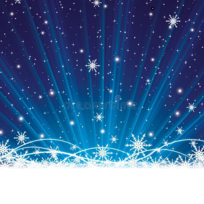 Noël bleu abstrait d'hiver illustration de vecteur
