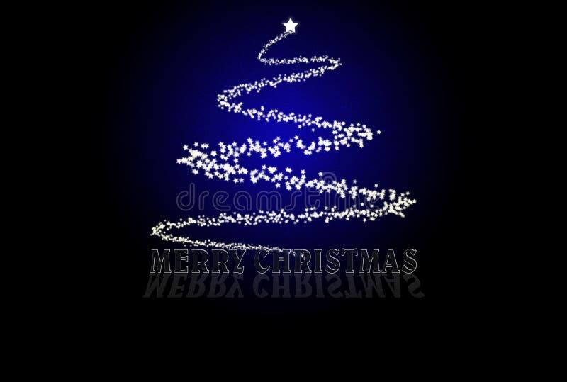 Noël bleu de carte illustration de vecteur