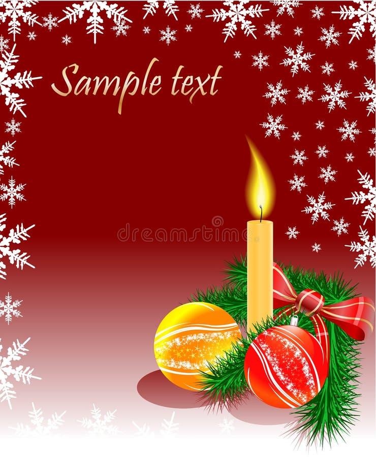 Noël bouillonne bougie et arbre illustration libre de droits