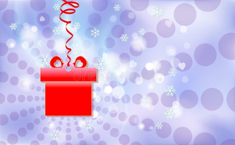Noël, cadeau de nouvelle année Rayons de fête qui fond abstrait bleu de rayon de soleil radial Formule en blanc actuelle pour des illustration libre de droits