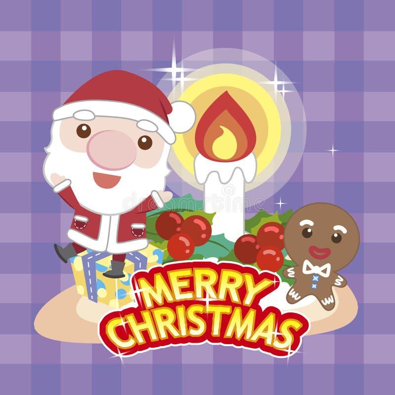 Noël card-05 de dessin animé illustration de vecteur