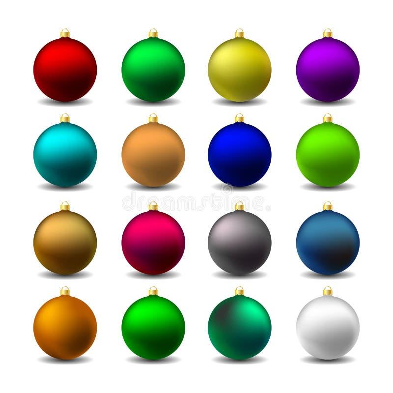 Noël coloré Mat Balls Iilustration de vecteur image stock