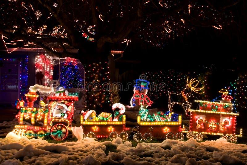 Noël a décoré la maison photos stock