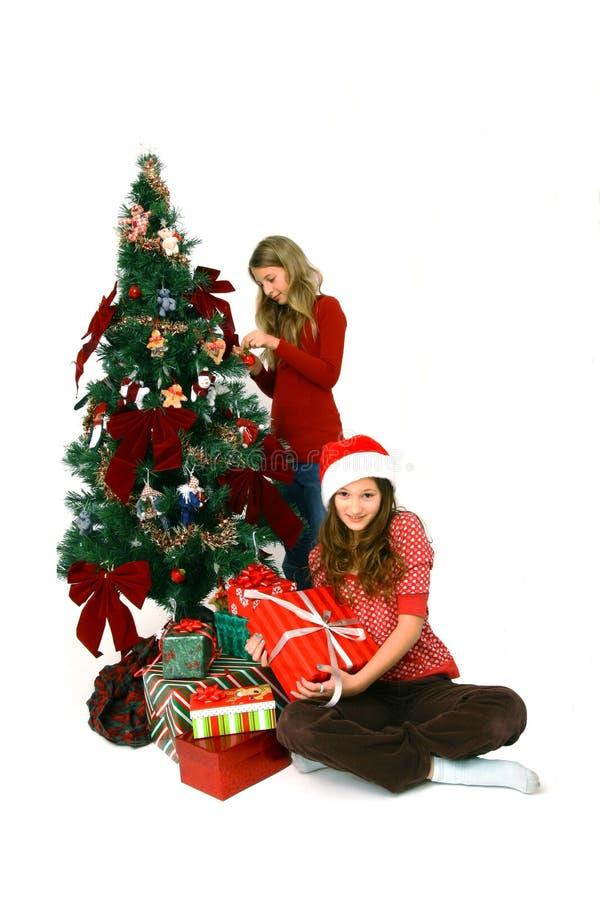 Noël décorant l'arbre photo stock