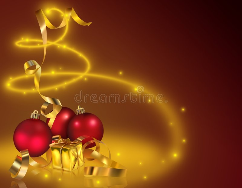 Noël d'or illustration stock