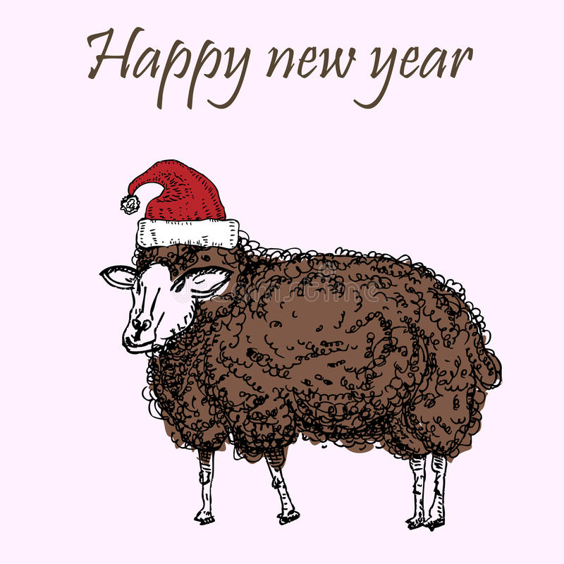 Noël d'agneau illustration stock