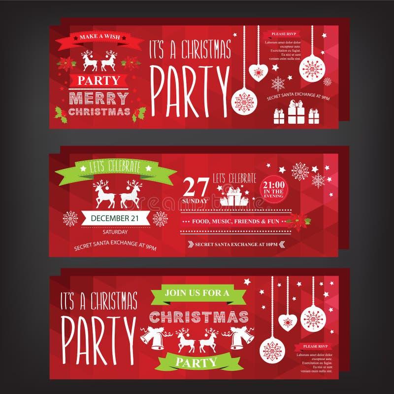 Noël d'invitation d'affiche Joyeux illustration stock