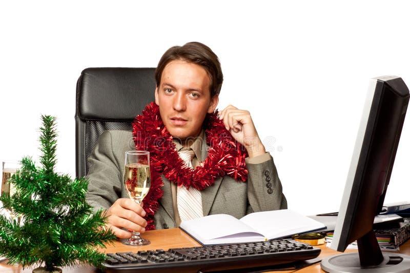 Noël dans le bureau photo libre de droits