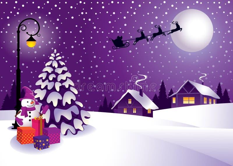 Noël dans le pays illustration stock