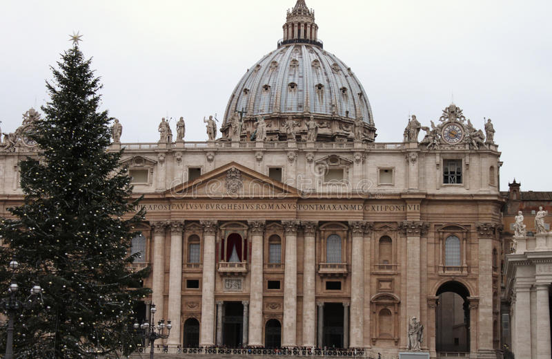 Noël dans Piazza San Pietro, Vatican images stock