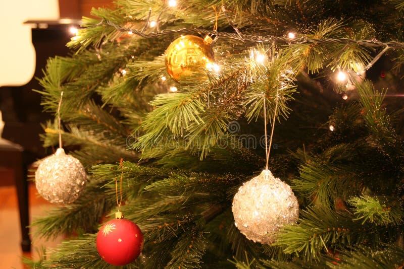 Noël de 02 billes photo stock