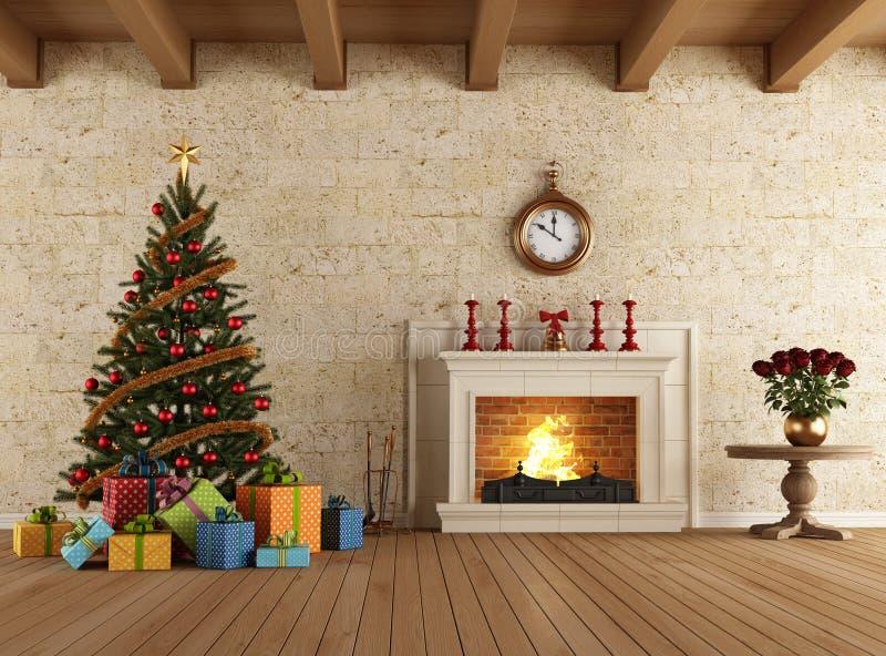 Noël de attente illustration stock