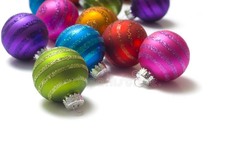 Noël de babioles de billes coloré images libres de droits