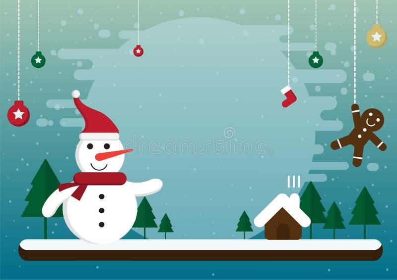 Noël de bande dessinée et saison d'hiver illustration de vecteur