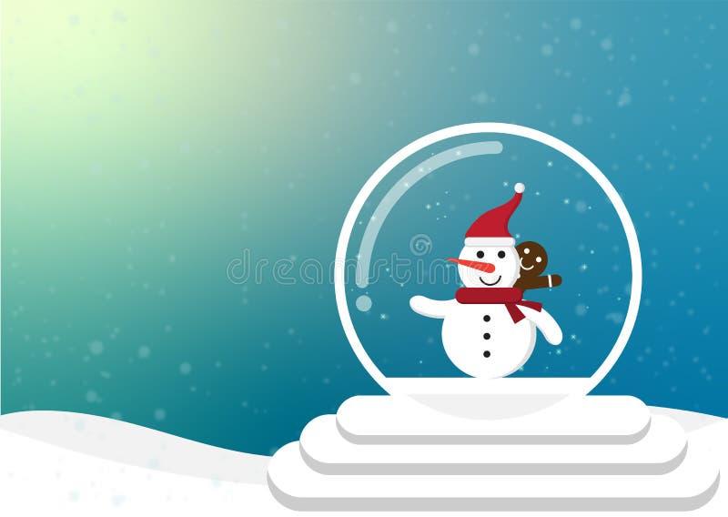 Noël de bande dessinée et saison d'hiver illustration stock
