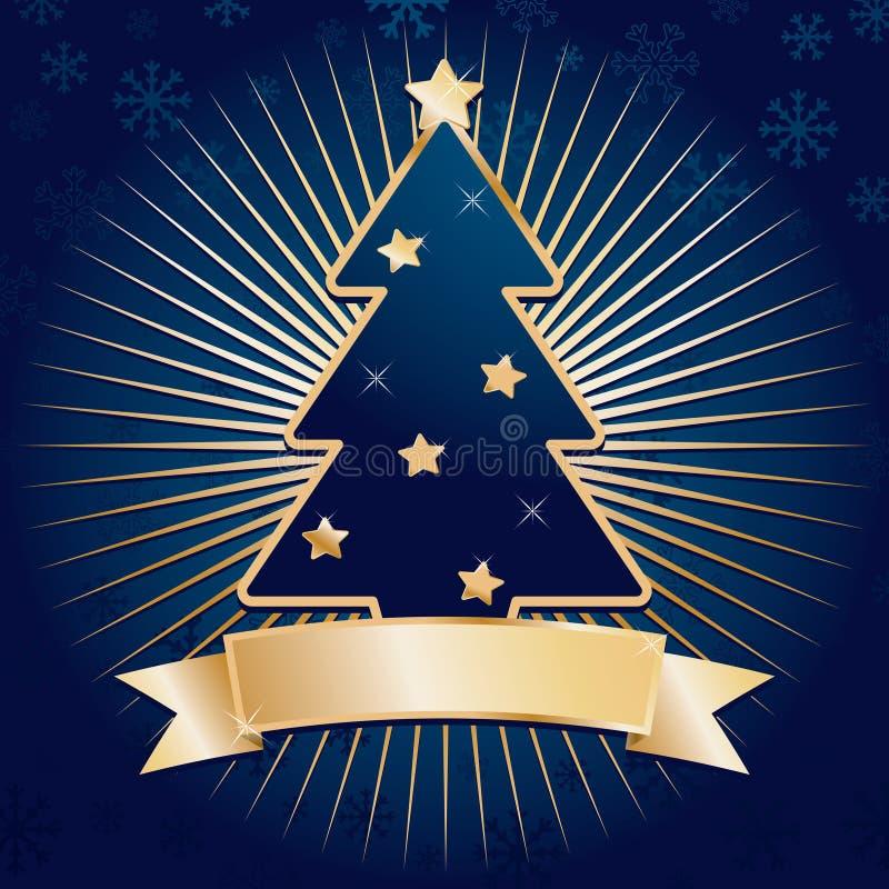 Noël de bleu et d'or illustration libre de droits