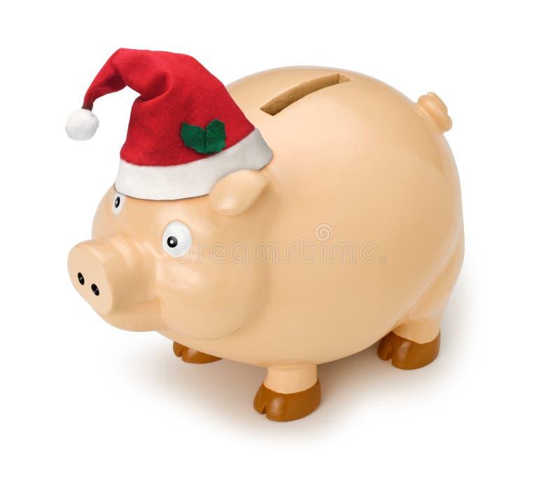 Noël de côté porcin images libres de droits