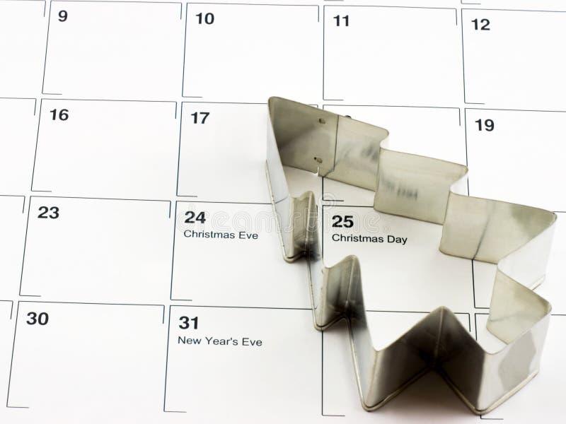 Noël de calendrier photographie stock