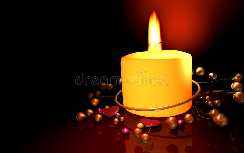 Noël de candel heureux illustration libre de droits