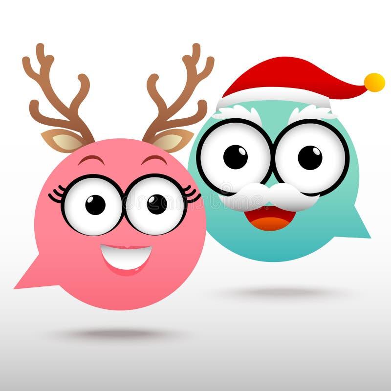 Noël de causerie de couples illustration stock