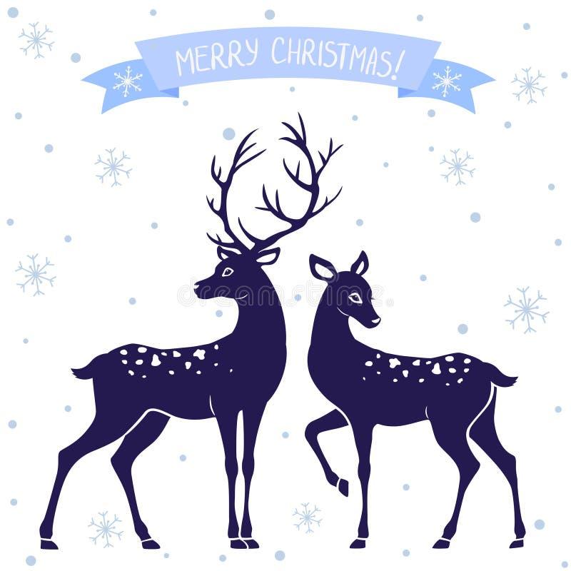 Noël de cerfs communs image libre de droits