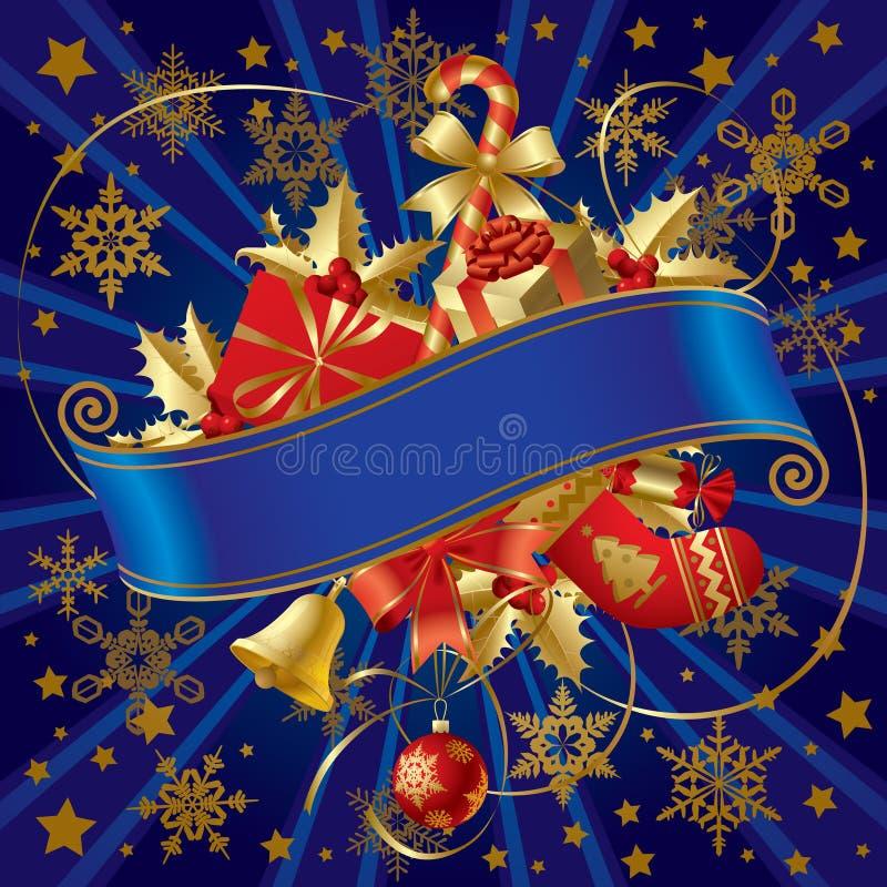 Noël de drapeau illustration libre de droits