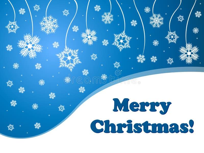 Noël de fond bleu de flocons de neige Joyeux photographie stock libre de droits