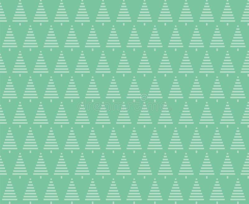 Noël de fond sans joint Configuration sans joint d'arbres de Noël illustration libre de droits