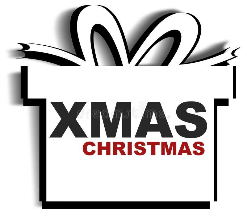 Noël de Noël de cadeau illustration stock