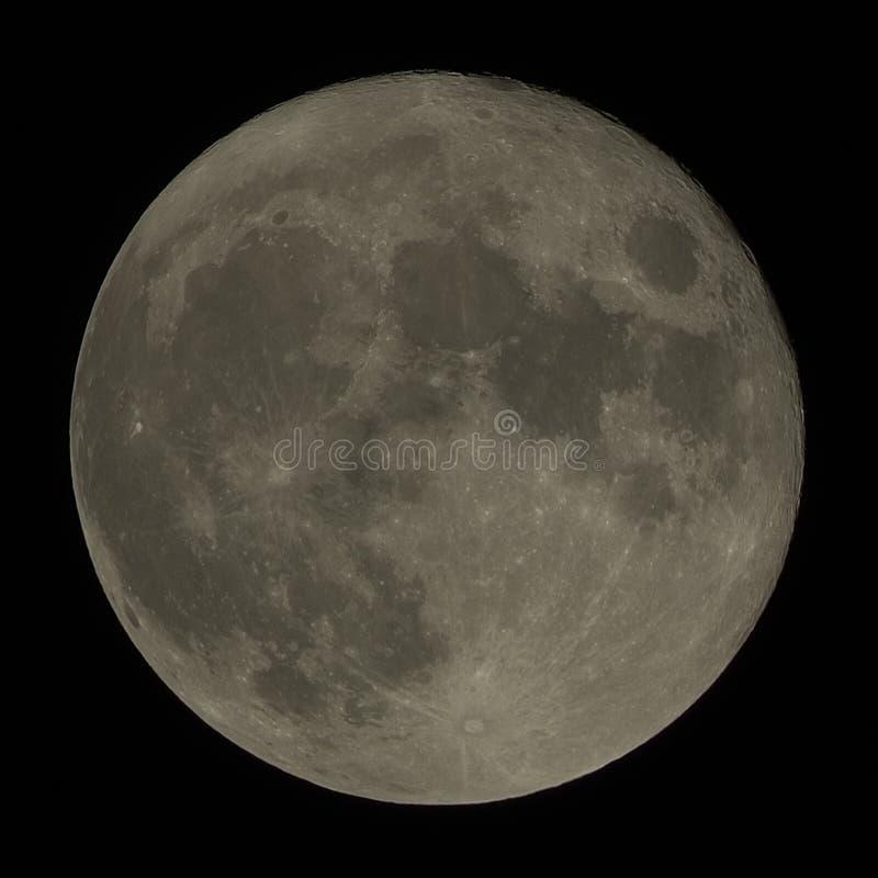 Noël 2015 de pleine lune image stock