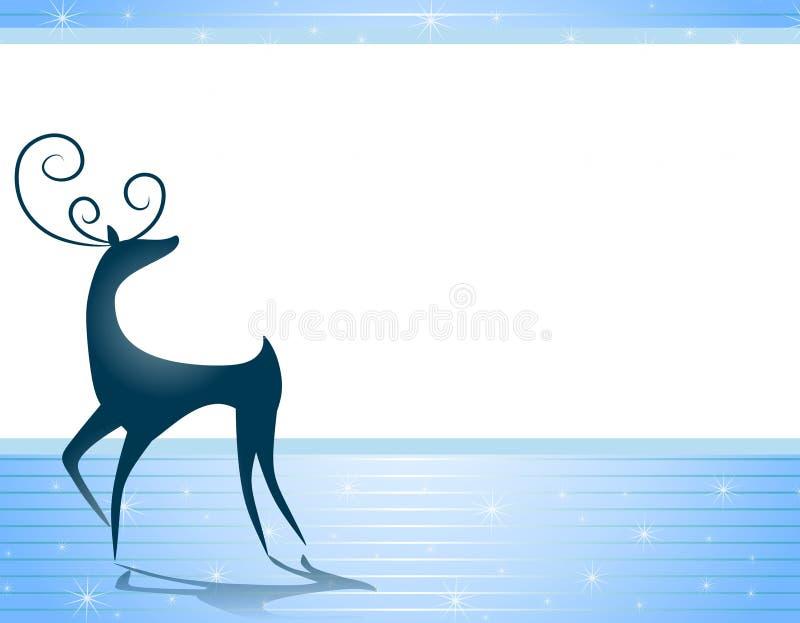 Noël de renne de fond illustration stock