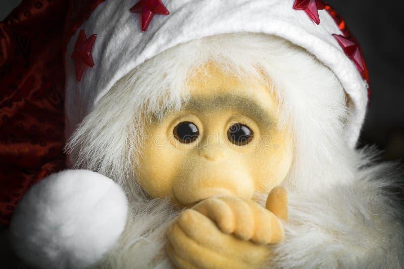 Noël 2016 de singe photographie stock libre de droits