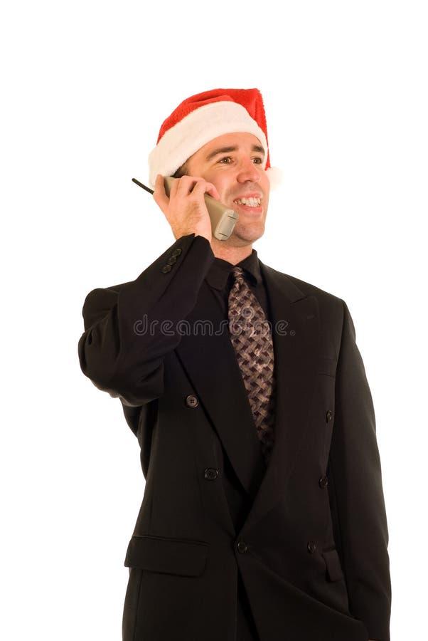 Noël de téléphone d'appel image libre de droits