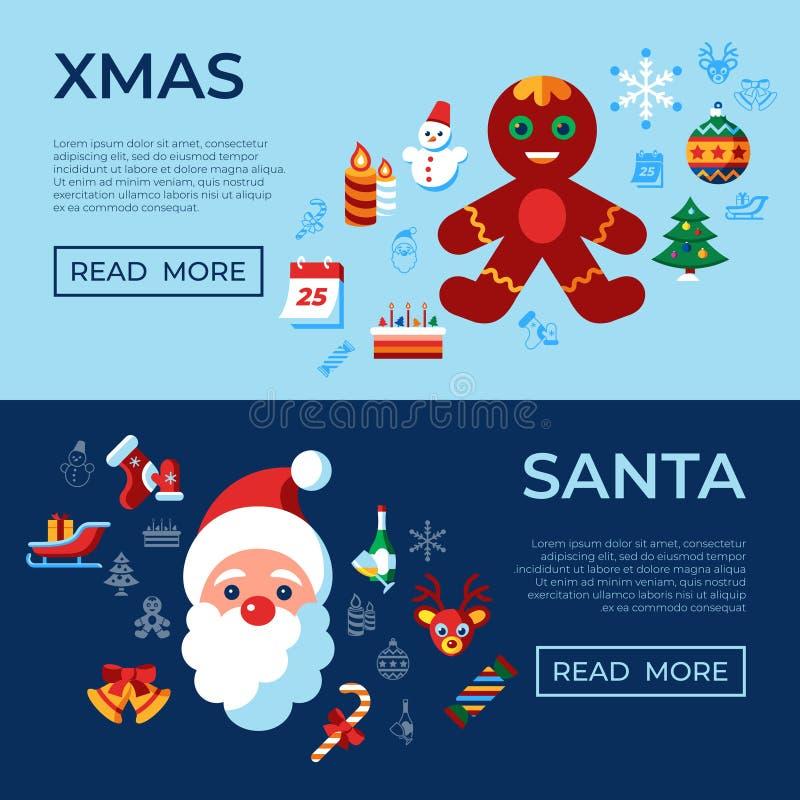Noël de vecteur de Digital Joyeux et vacances d'hiver illustration stock
